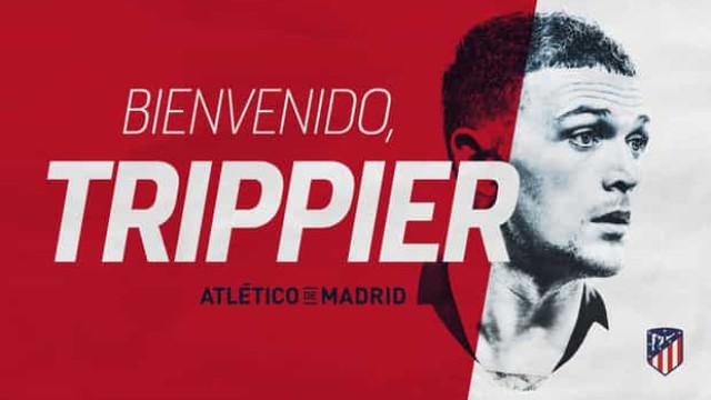Oficial: Atlético de Madrid compra Trippier ao Tottenham
