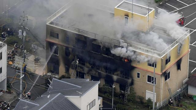 Dez mortos em incêndio de suposta origem criminosa em estúdio de animação