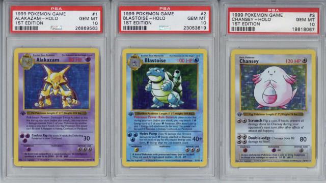 Baralho de cartas Pokémon vendido em leilão por 95 mil euros