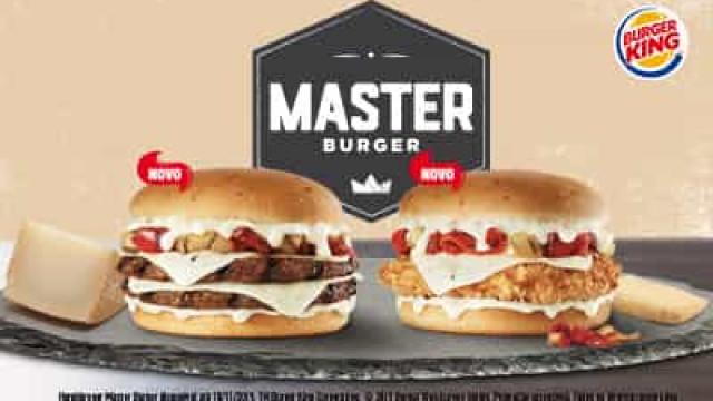 Burger King lança o novo Master Burguer, uma delícia de queijo ibérico