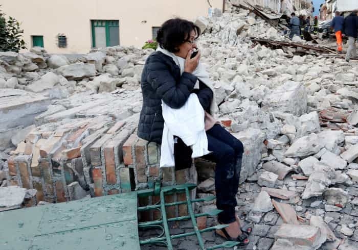 """""""Metade"""" de cidade italiana desapareceu, diz autarca"""