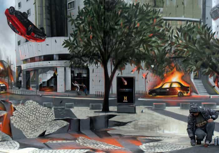 Um dos melhores graffiters é português e diz-nos como pode acabar a Terra