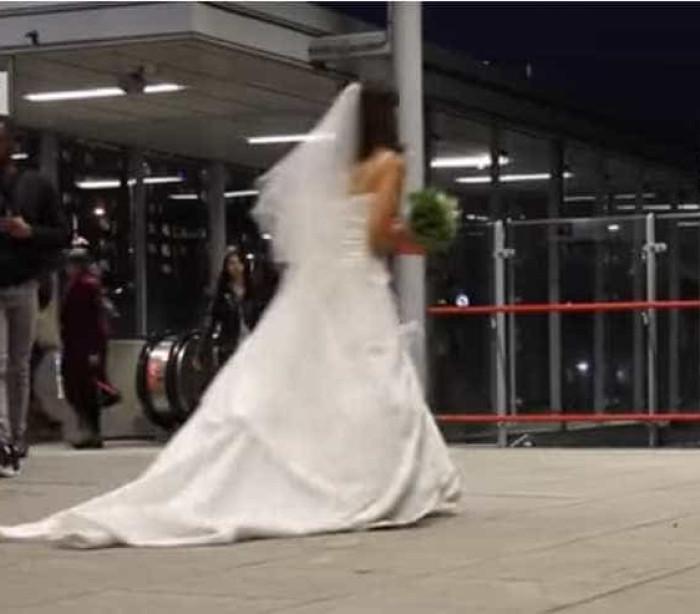 E se no primeiro encontro ela fosse vestida de noiva?