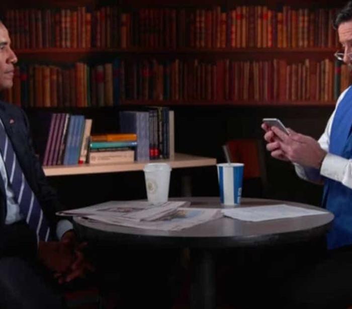 Quando o Presidente dos EUA vai a uma entrevista... de emprego