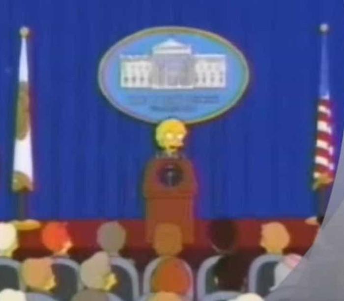 Há 16 anos atrás, os Simpsons já tinham previsto uma vitória de Trump