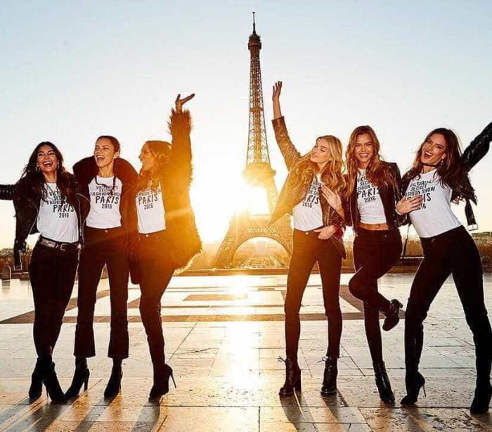 Anjos da Victoria's Secret estão em Paris para o desfile do ano