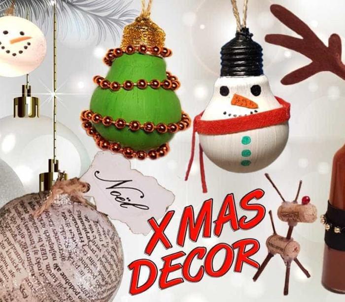 Dez decorações de Natal que pode criar enquanto recicla