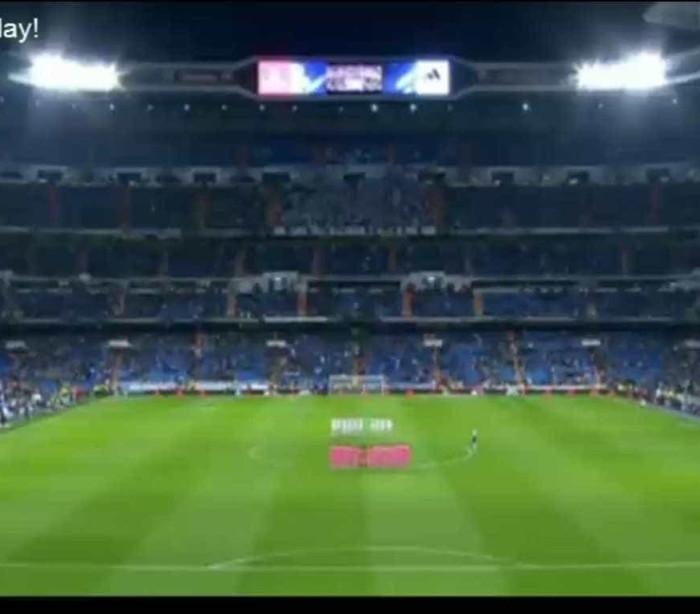 Minuto de silêncio no Real Madrid