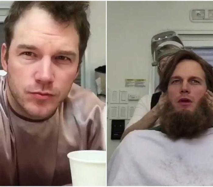Chris Pratt mostra como era caracterizado para o filme 'Passengers'
