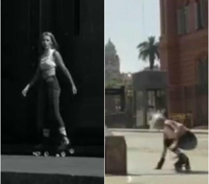 Tenta saltar de patins sobre escada e acaba mal. Mas não desiste