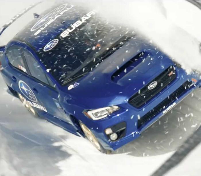 Subaru transformado em trenó olímpico