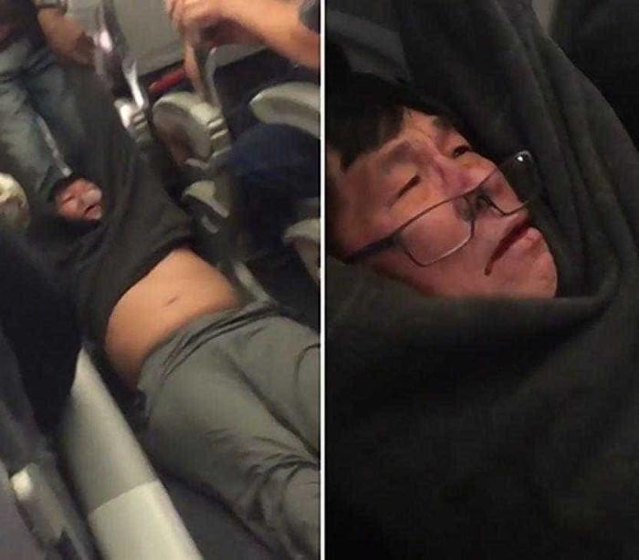 Passageiro arrastado violentamente para fora de avião