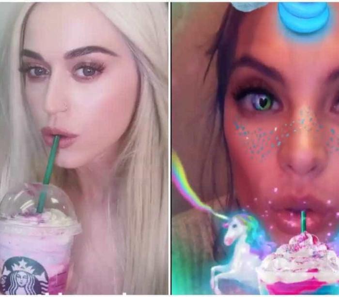 "Celebridades rendem-se à moda do ""Frappuccino Unicórnio"""