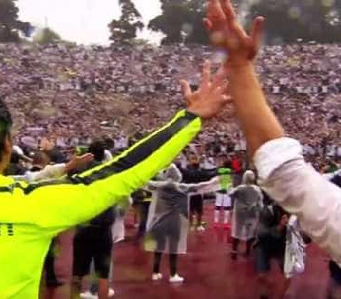 O arrepiante momento entre jogadores e adeptos do Vitória