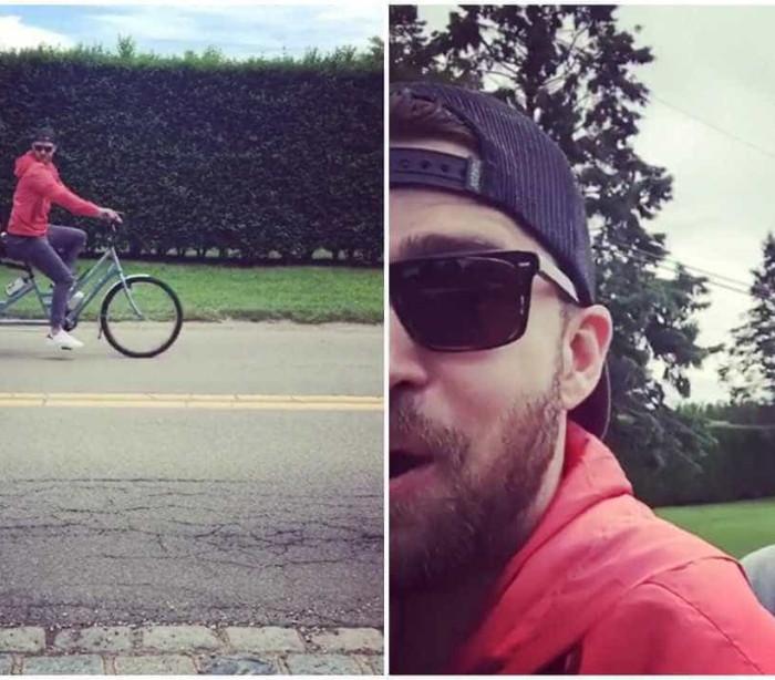 Justin Timberlake e Jimmy Fallon andam de bicicleta em conjunto