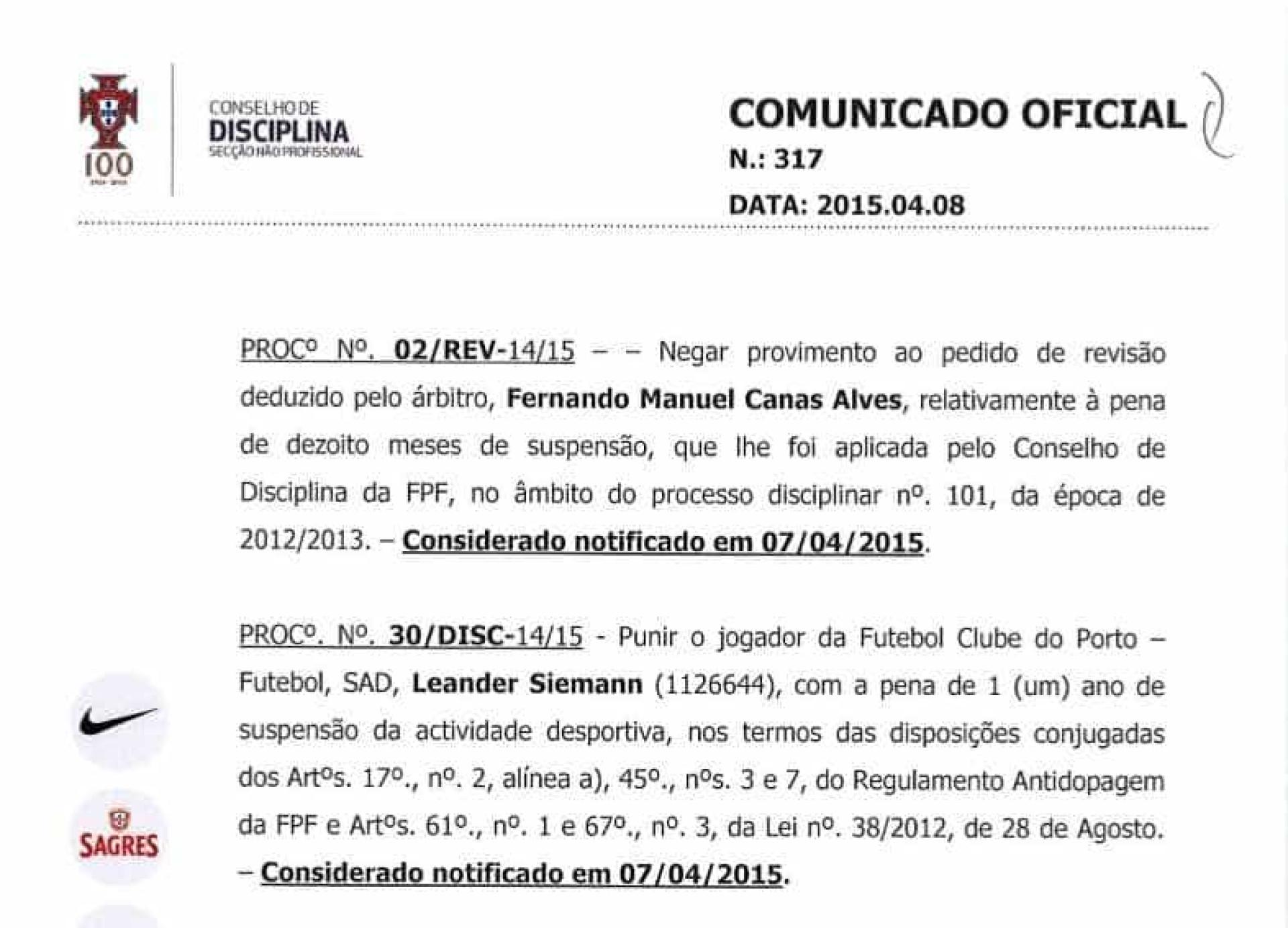 O estranho caso do jogador do FC Porto que esteve suspenso por doping
