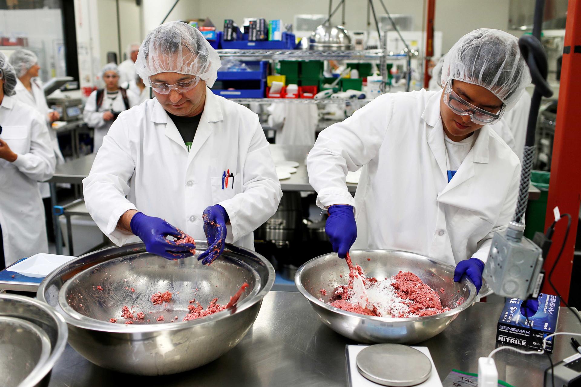 Hambúrgueres (sem carne) produzidos em laboratório? Sim