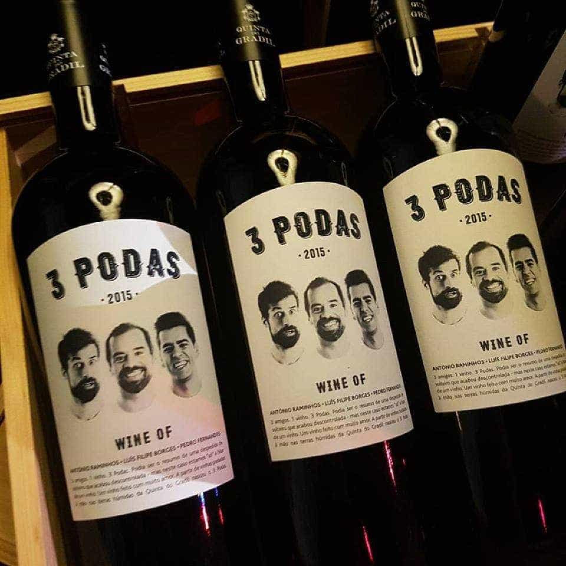 Três amigos, '3 Podas'. O vinho de Raminhos, Borges e Fernandes
