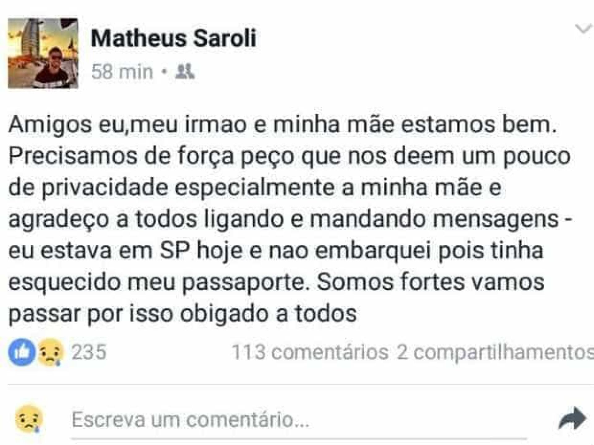 Filho de Caio Júnior não embarcou no avião porque não tinha passaporte