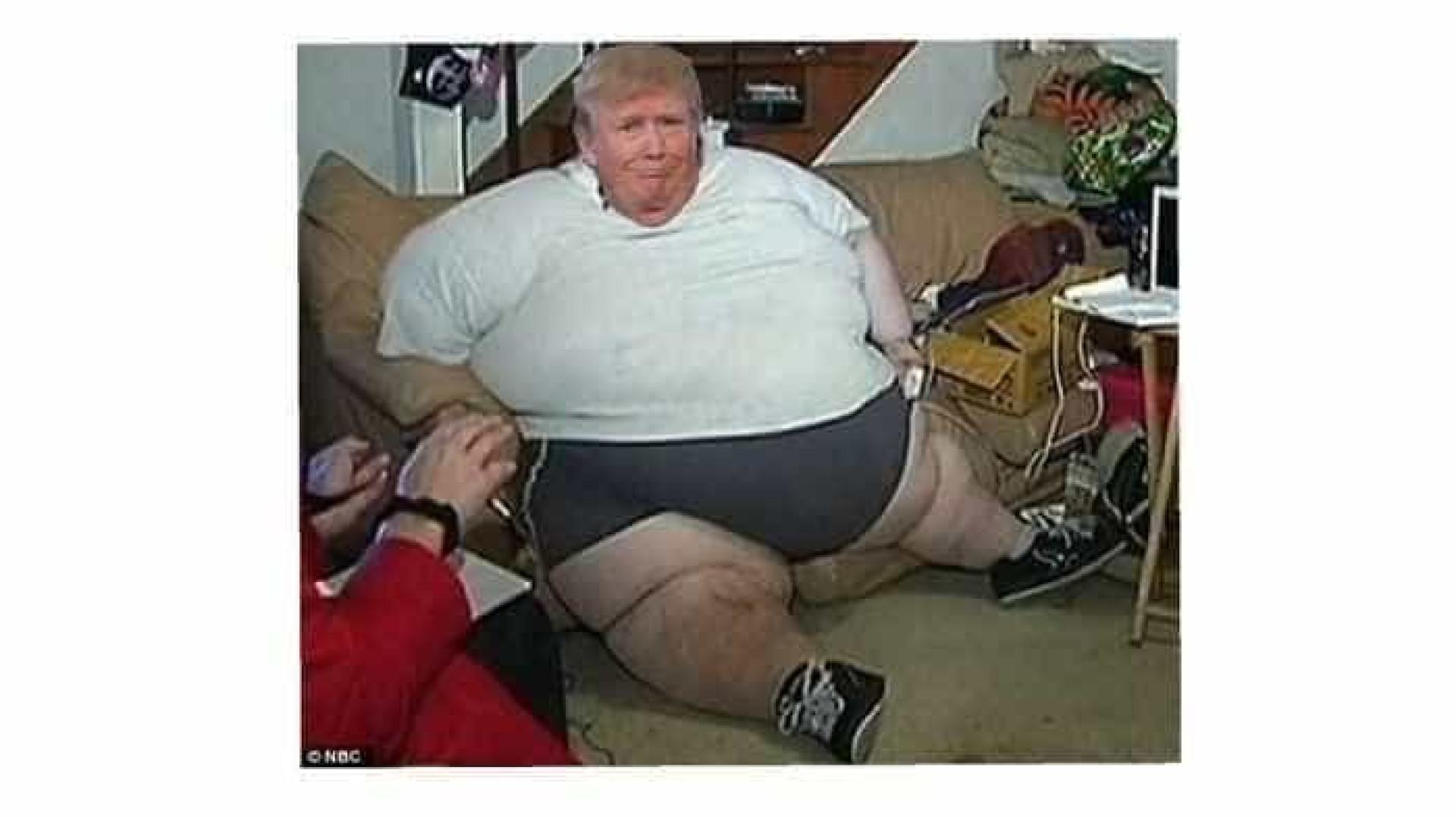 Trump pediu para que não lhe tirassem fotos ao queixo, a Internet reagiu