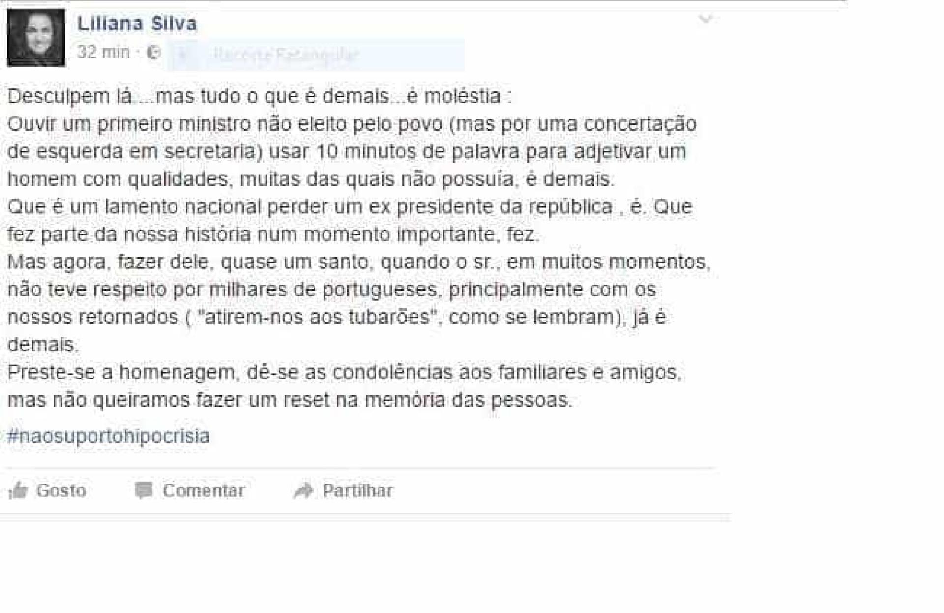 Publicação de presidente do PSD de Caminha sobre Soares indigna PS