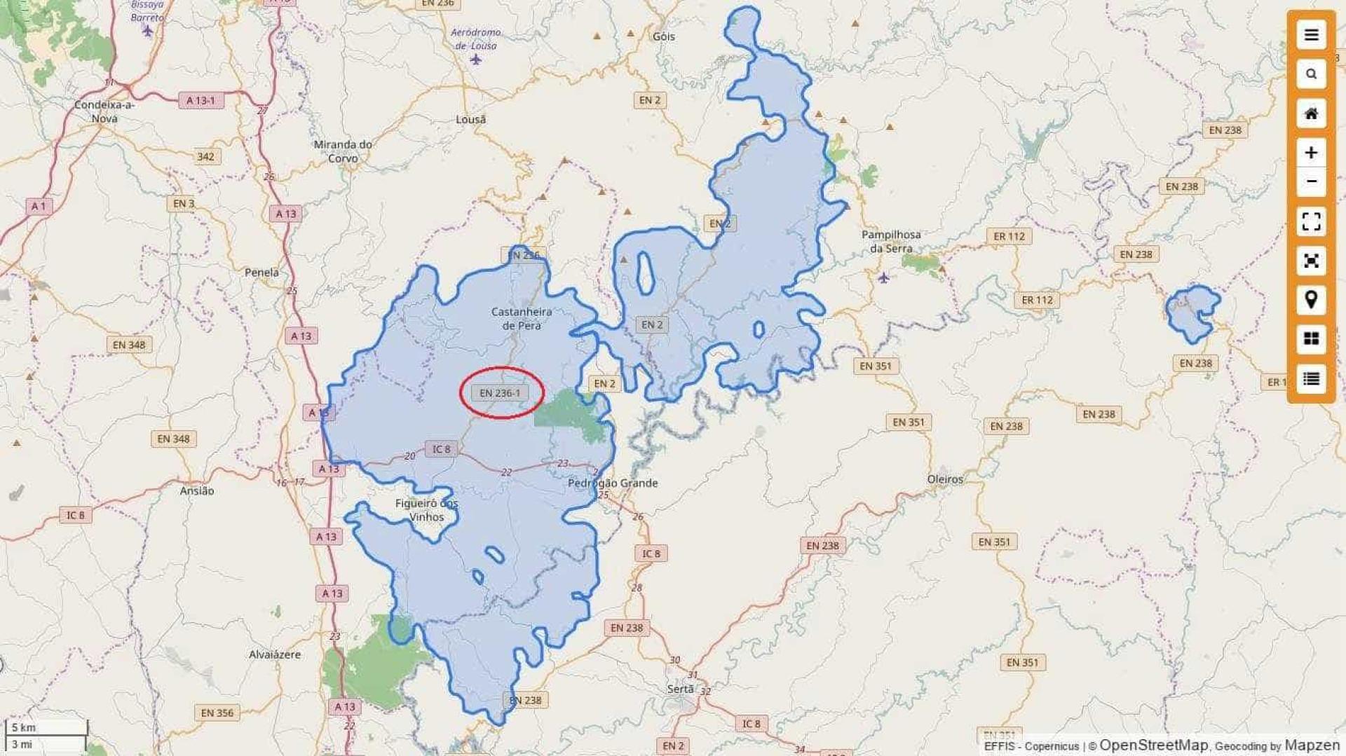 Incêndio em Pedrógão Grande e Góis queimou quase 45 mil hectares
