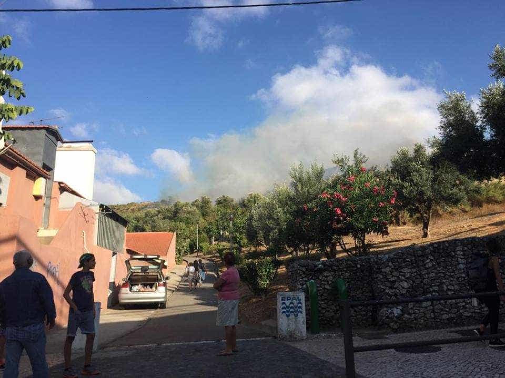 Incêndio corta trânsito na A8 junto à Calçada de Carriche