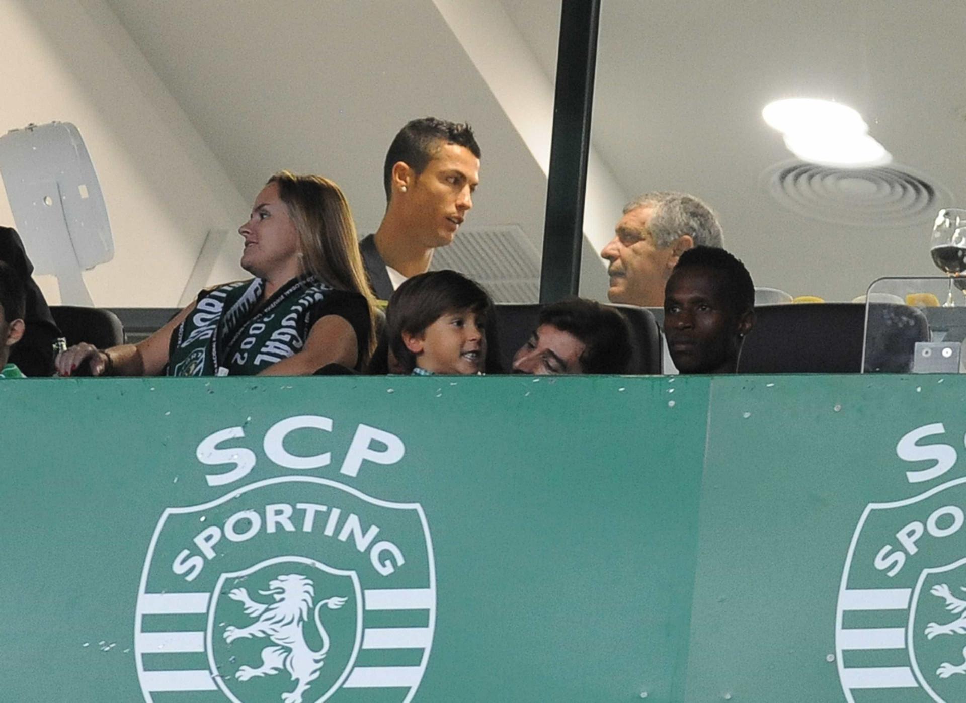 Ronaldo marca presença em Alvalade para assistir ao Sporting-Tondela