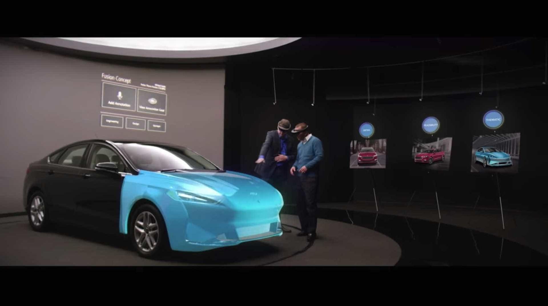 Ford está a usar realidade aumentada da Microsoft para criar carros