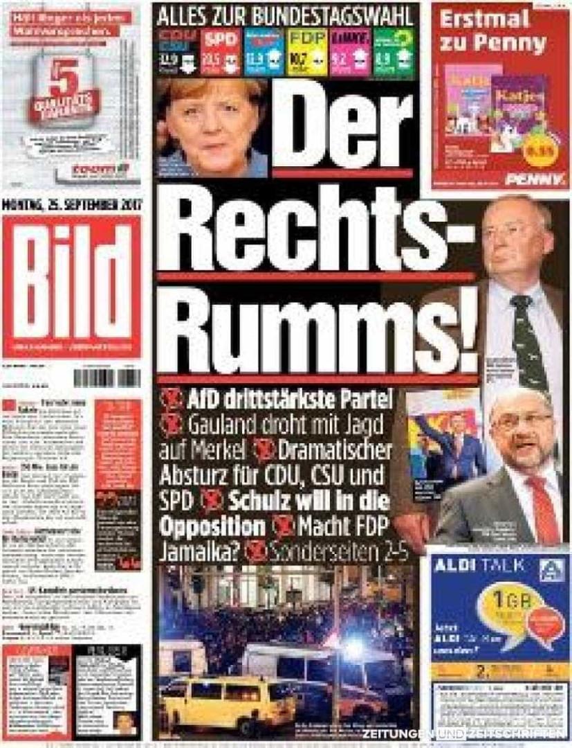 Imprensa alemã em choque com resultados das legislativas