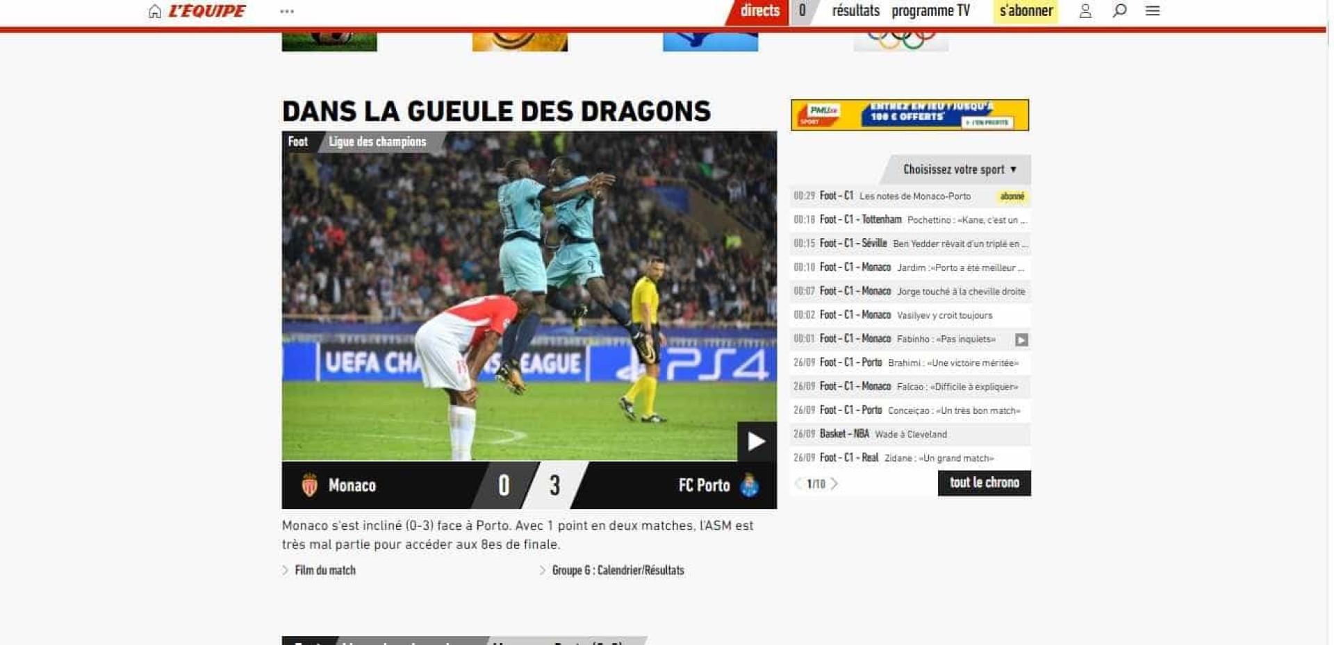 Veja o que disse a imprensa francesa sobre a pesada derrota do Monaco