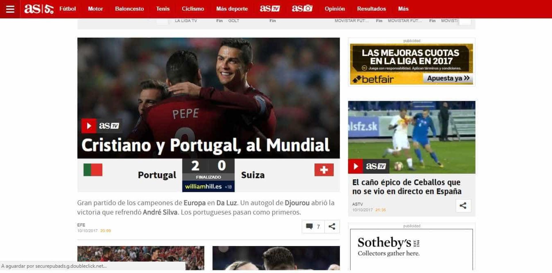 Veja o que se disse além fronteiras sobre o triunfo português