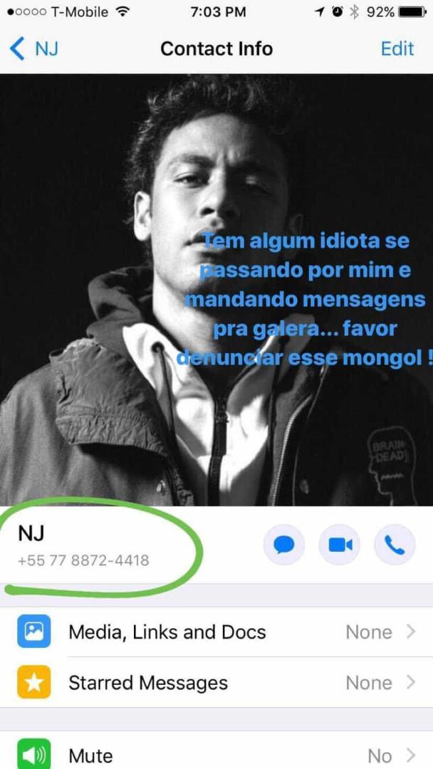 """Neymar denuncia falsa conta: """"Um idiota está a fazer-se passar por mim"""""""