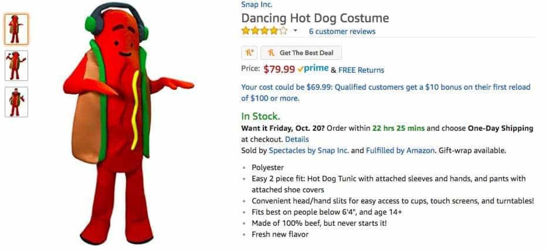 O Snapchat está a vender fatos da sua 'mascote'