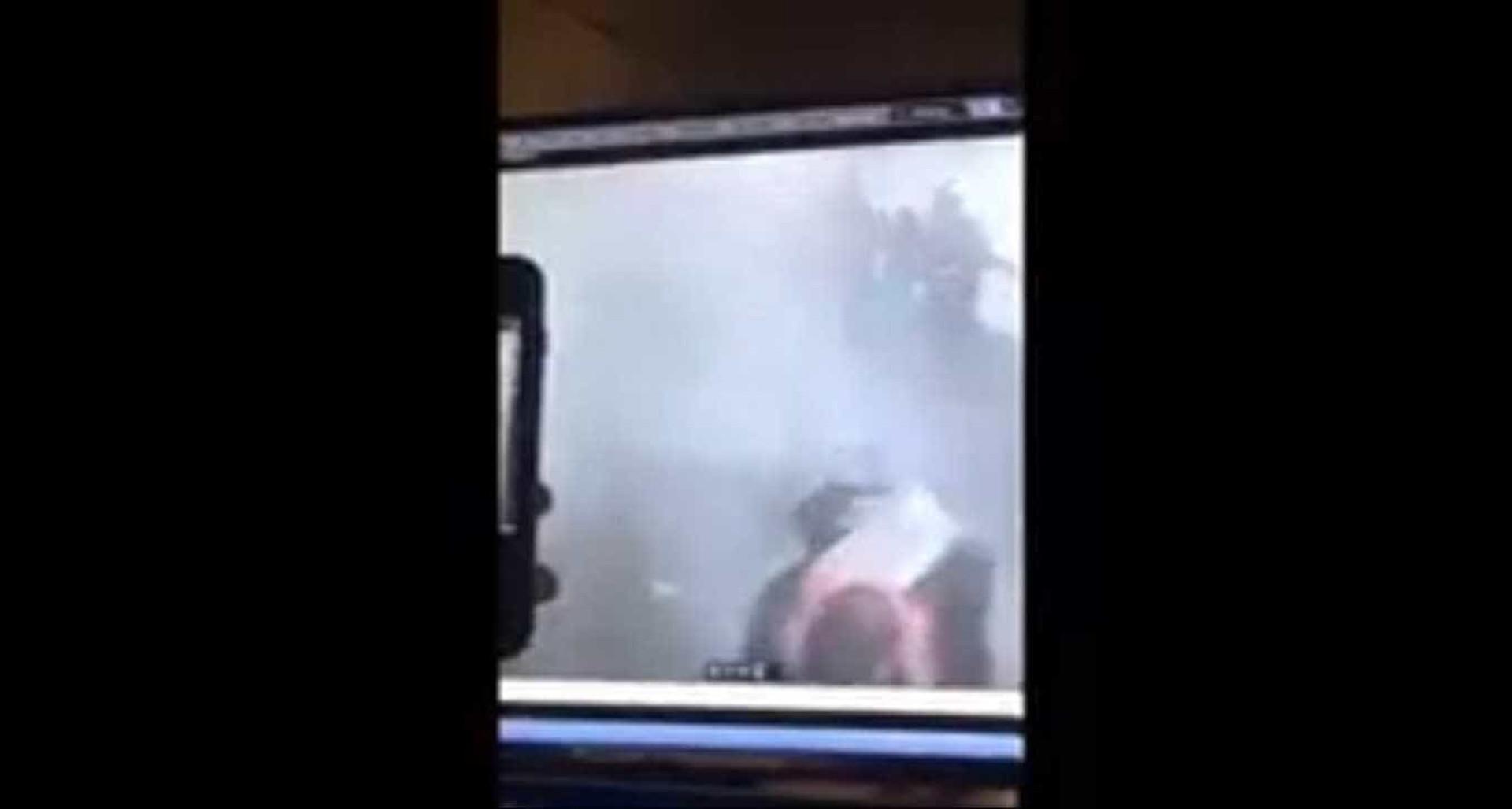 O momento da explosão em Manhattan