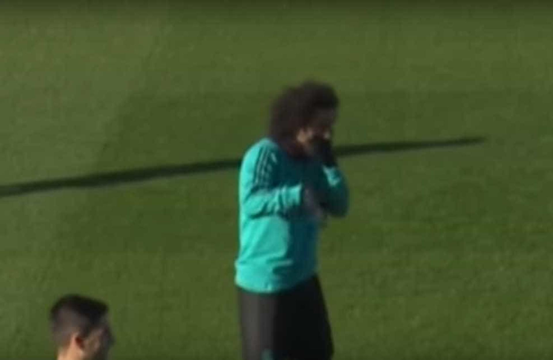 Marcelo não aguentou o riso depois deste momento com Modric