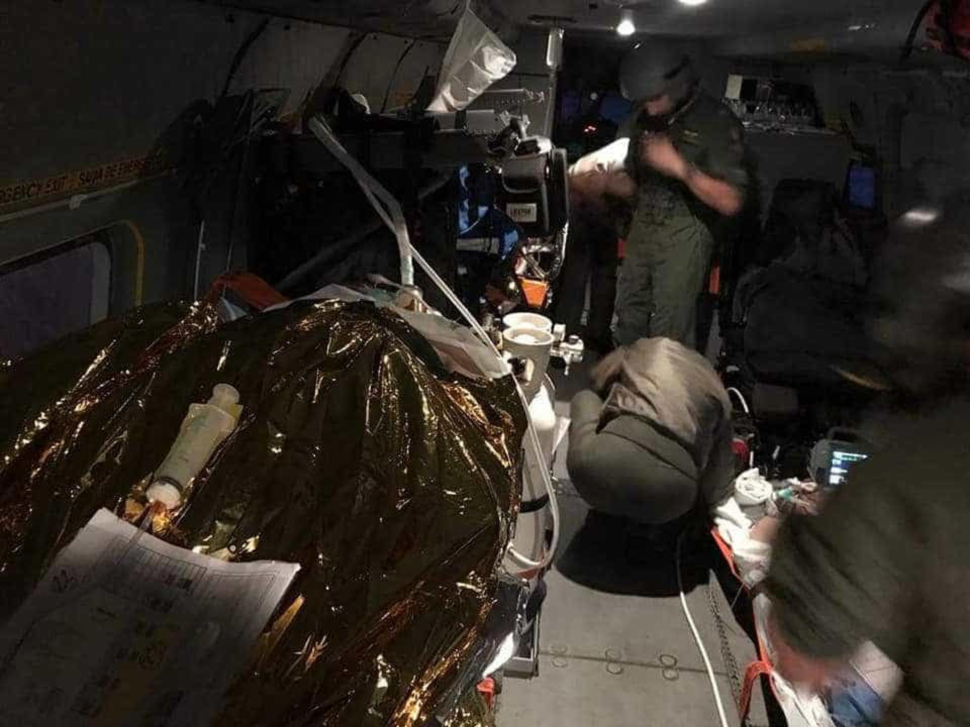 As imagens do resgate dos feridos de Tondela pela Força Aérea