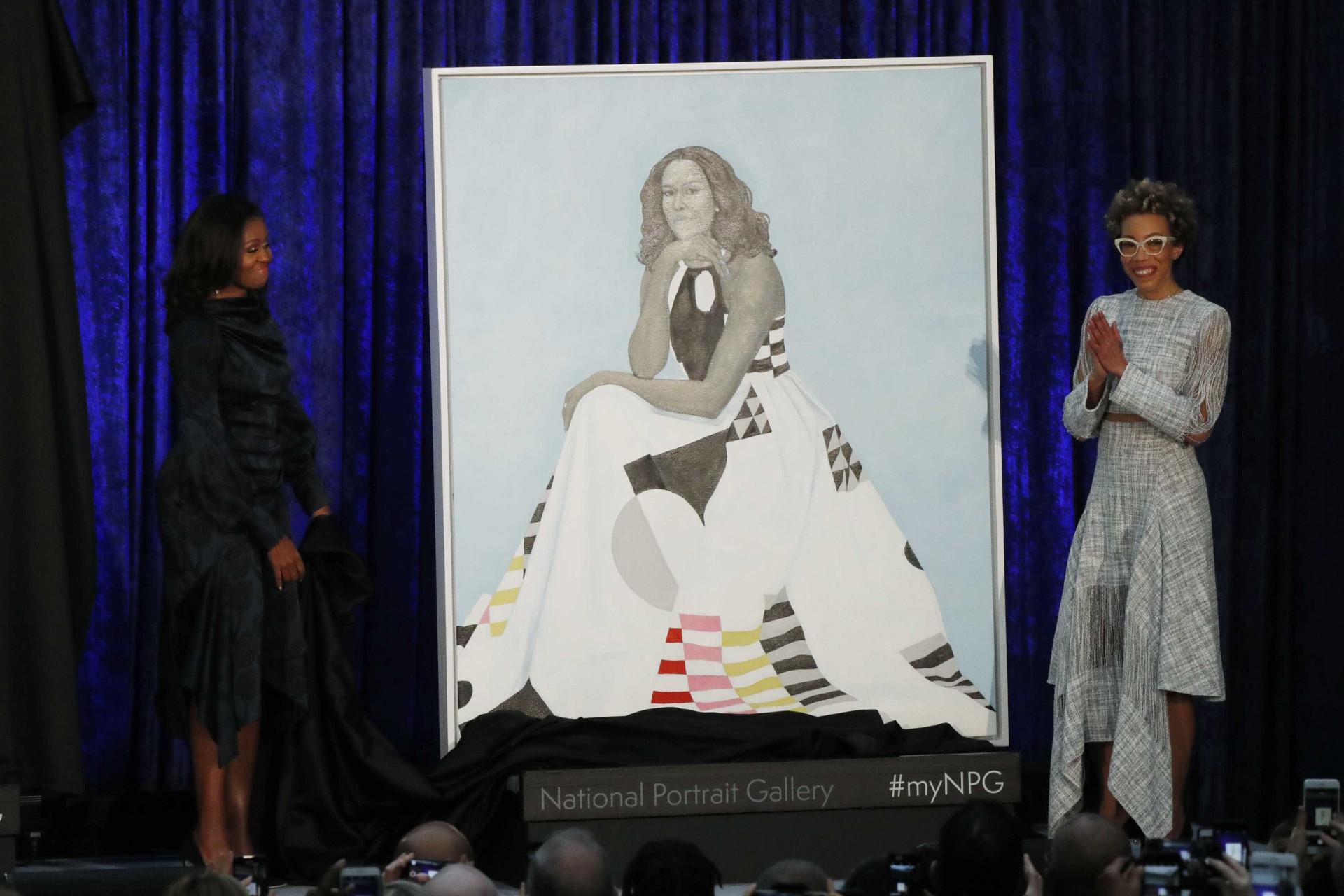 Barack e Michelle Obama acabam de revelar as suas pinturas oficiais