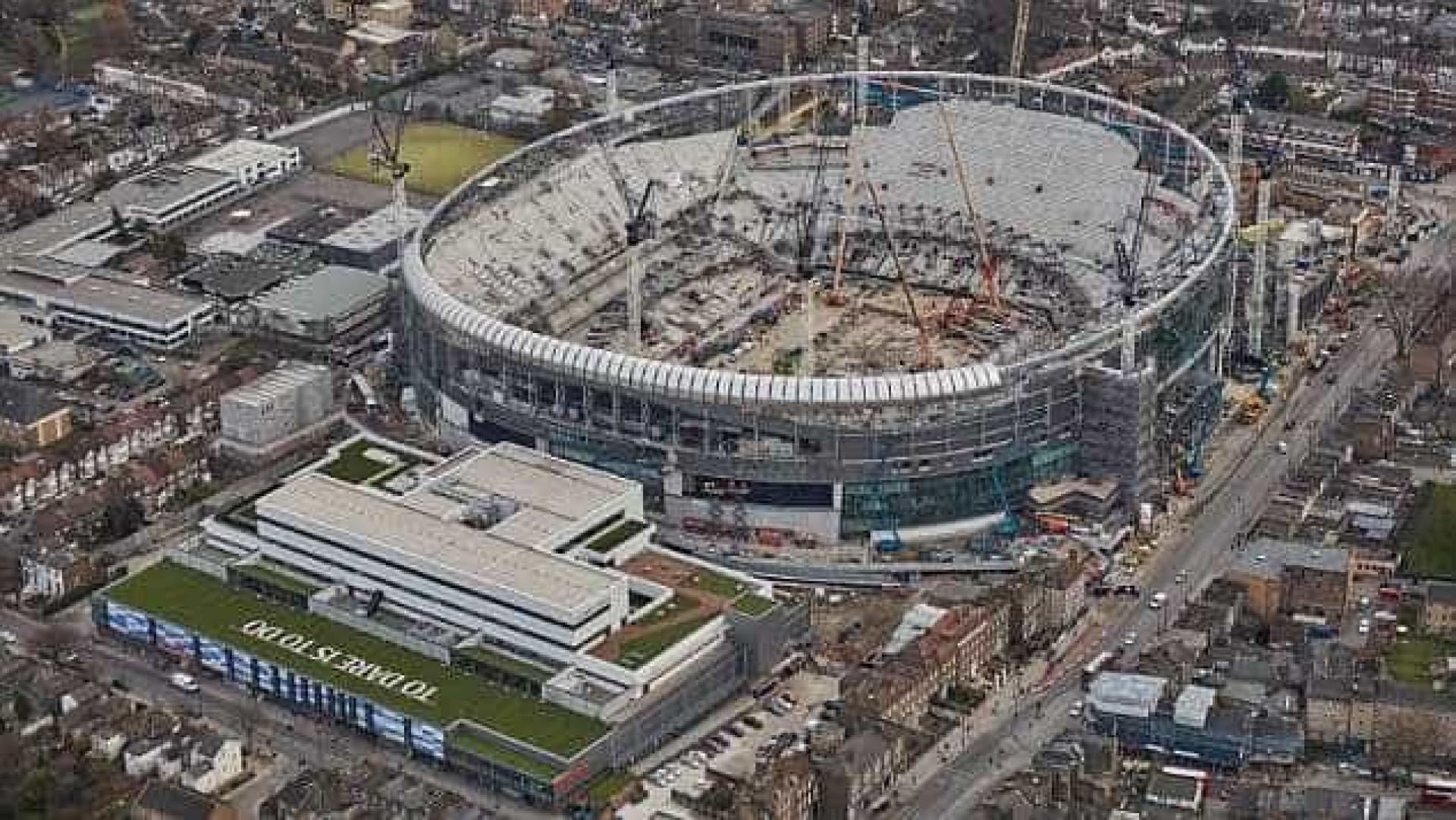 Nova 'casa' do Tottenham começa a ganhar forma