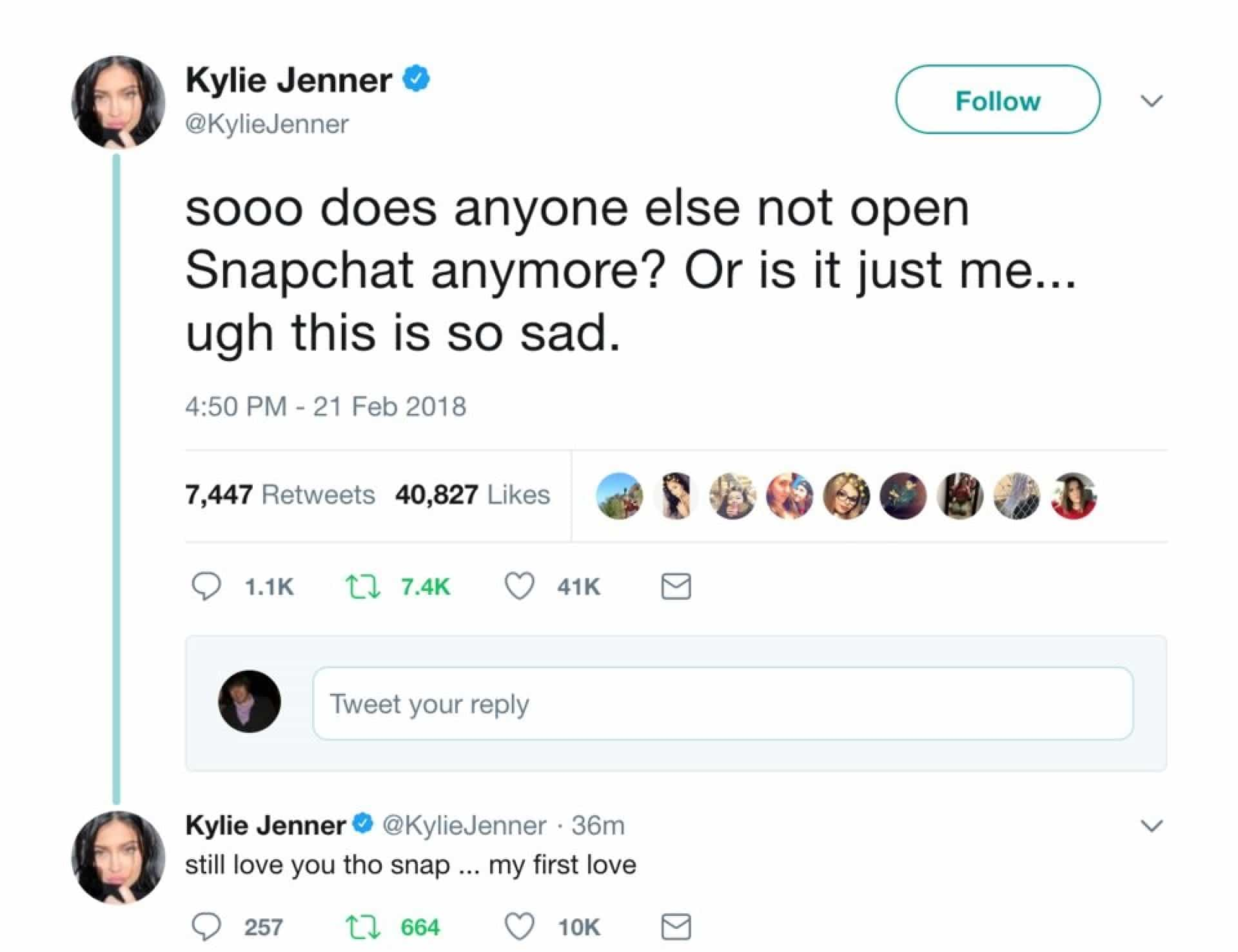 'Morte' do Snapchat pode ter sido assinada por... Kylie Jenner
