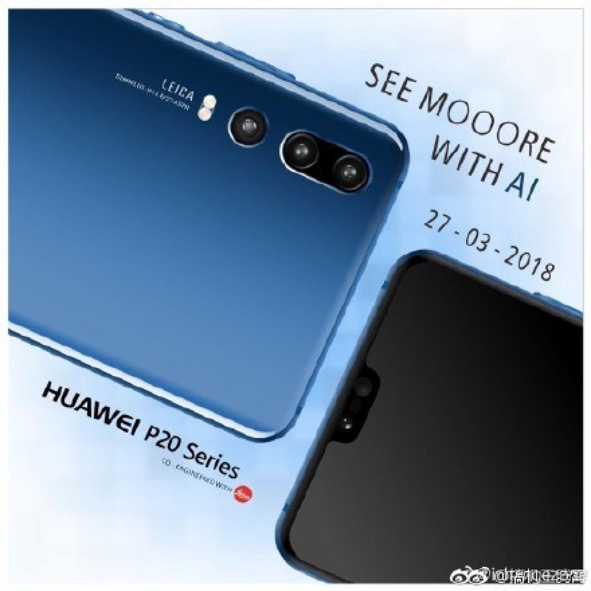 Câmara tripla do topo de gama da Huawei avistada em nova imagem