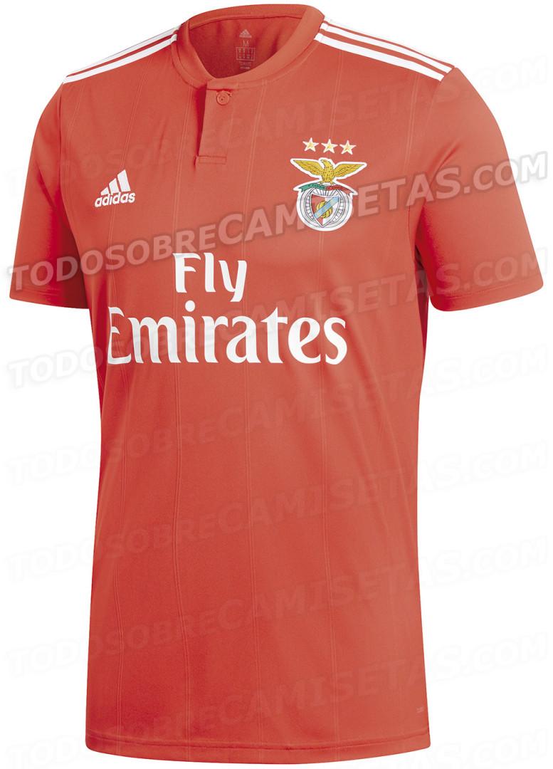 Camisola do Benfica para 2018/19 cai na internet