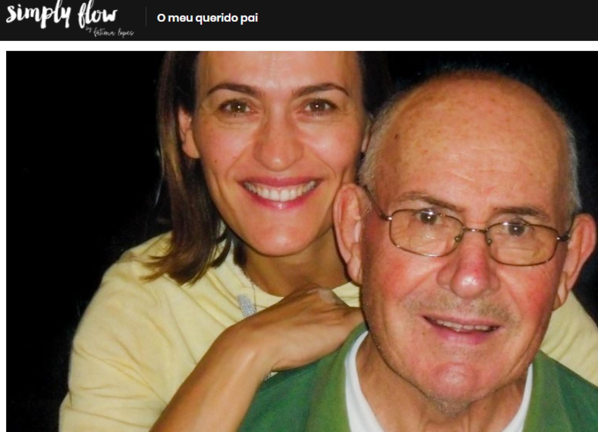 """Fátima Lopes sobre o pai: """"Tem estado sempre presente"""""""