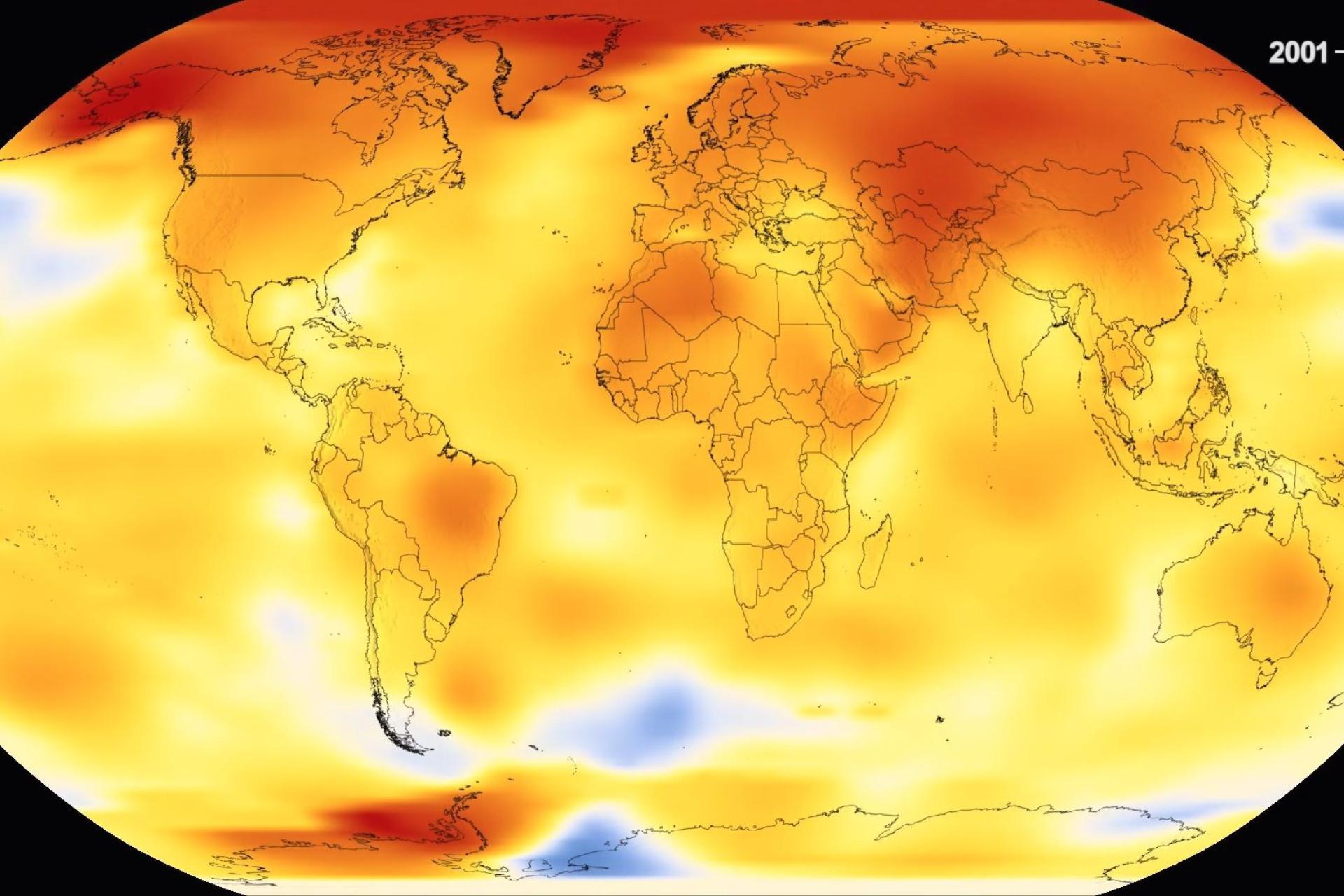 Vídeo da NASA mostra o efeito de quase 140 anos de aquecimento global