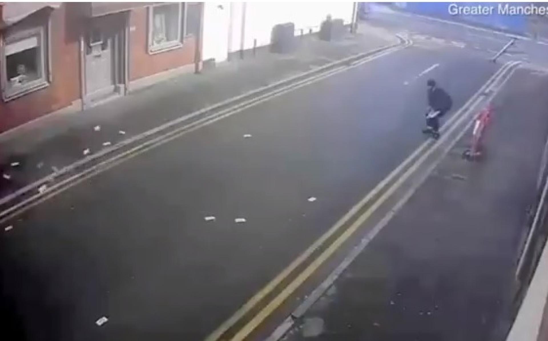 Bastou uma rabanada de vento para tramar este ladrão