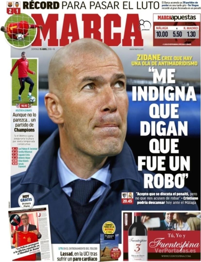 """Revista de imprensa internacional: A """"indignação"""" de Zidane"""