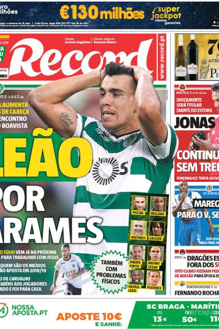 Imprensa: Novo alvo do FC Porto e a boa e a má notícia para o Sporting