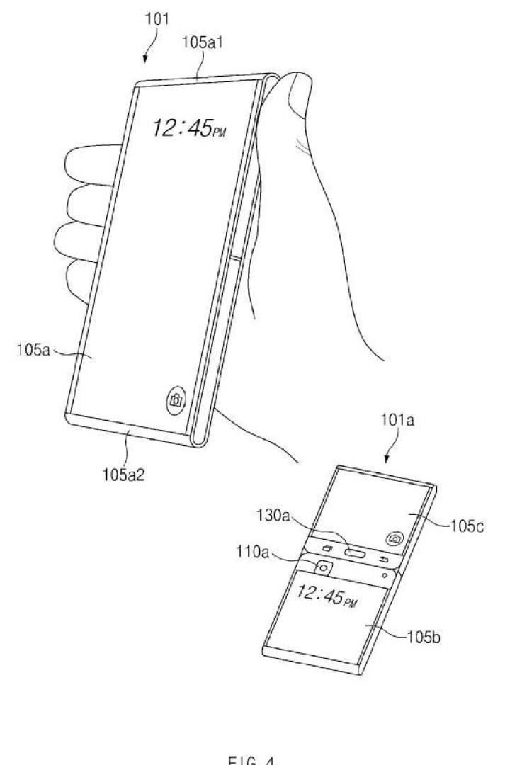 Samsung recebeu patente para gadget com ecrã flexível. Veja as imagens