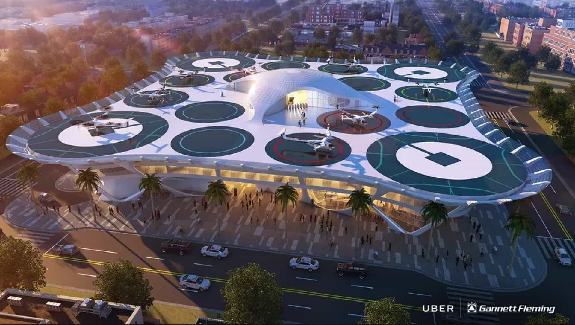 Veja os 'concepts' de portos para os carros voadores da Uber