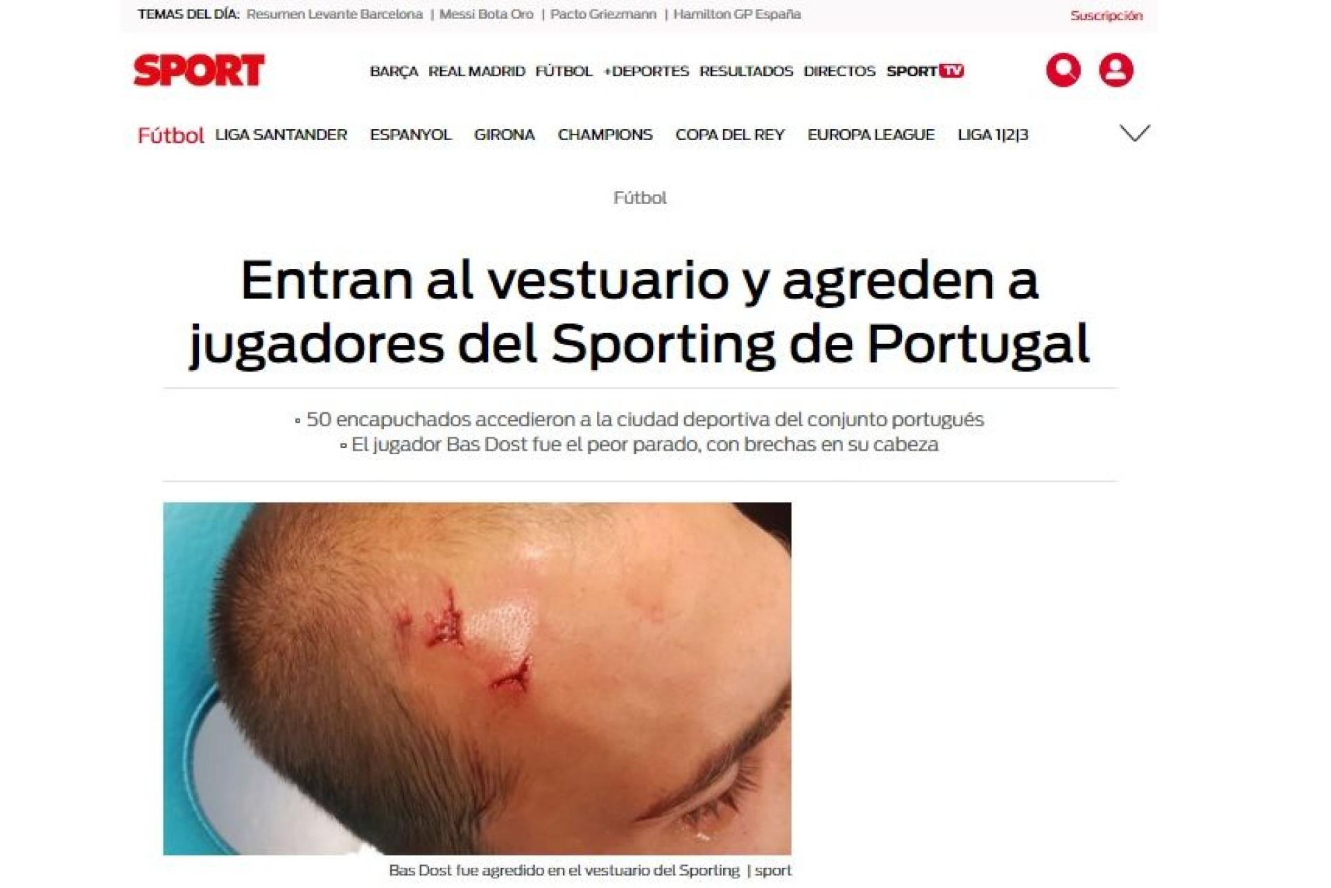 """""""Vergonha em Portugal"""": Lá por fora falam de 'hooligans' em Alcochete"""